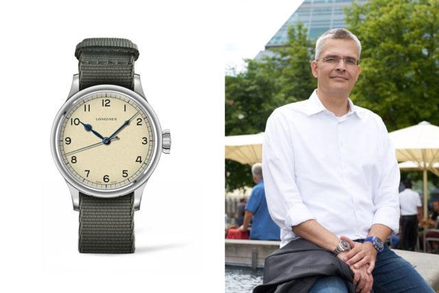 Rüdiger Bucher, Chefredakteur Chronos, gefällt die Longines Heritage Military