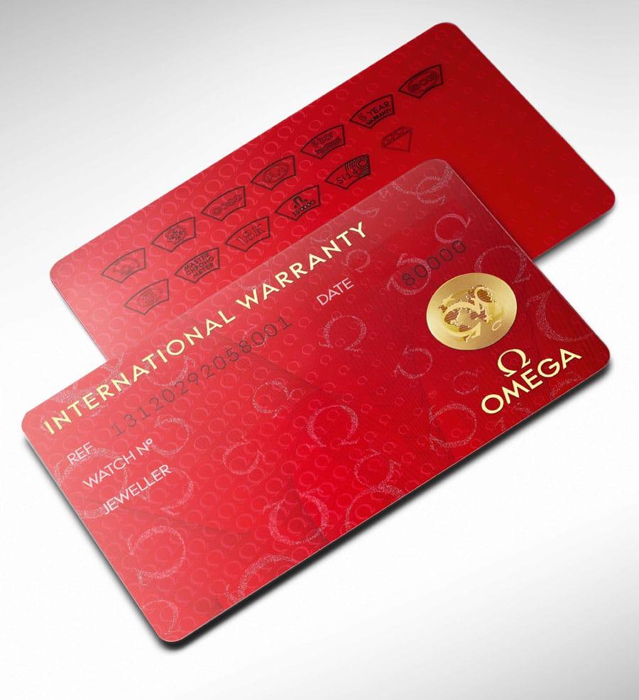 Garantiekarte von Omega