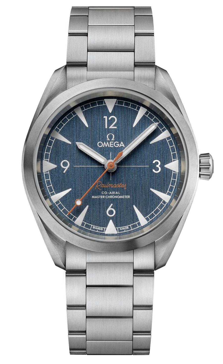 Omega: Seamaster Railmaster Denim am Edelstahlband