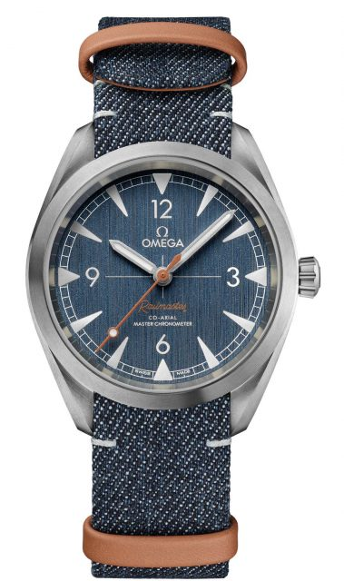 Omega: Seamaster Railmaster Denim am NATO-Band