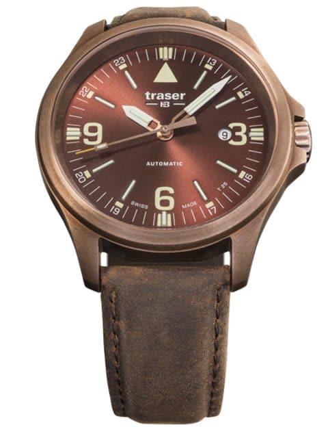 Traser H3: P67 Officer Pro Automatic in Bronze mit braunem Zifferblatt