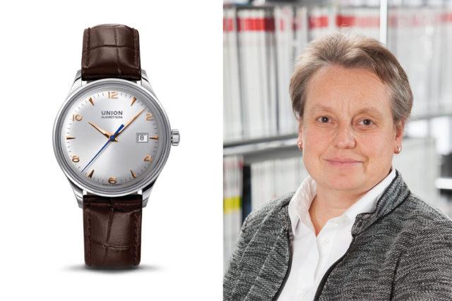 Martina Richter, stellvertretende Chefredakteurin UHREN-MAGAZIN, gefällt die Noramis Datum von Union Glashütte