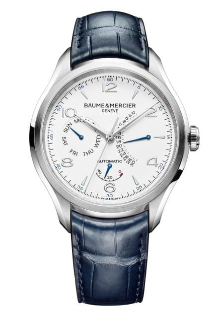 Baume & Mercier: Clifton Gangreserve, retrograder Tag und retrogrades Datum