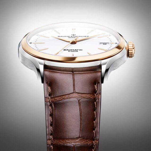 Baume & Mercier: Clifton Baumatic als Bicolor-Variante