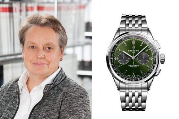 Martina Richter, stellvertretende Chefredakteurin UHREN-MAGAZIN, empfiehlt den Breitling Premier B01 Chronograph 42 Bentley British Racing Green