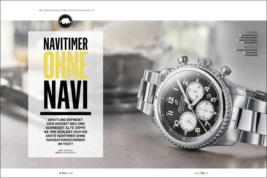 Völlig neue Modelllinie: Test der Breitling Navitimer 8