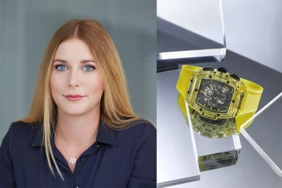 Nadja Ehrlich, Online-Redakteurin Watchtime.net, gefällt die Spirit of Big Bang Yellow Sapphire von Hublot