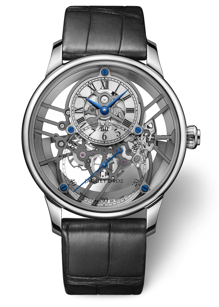 Jaquet Droz: Grande Seconde Skelet-One in Weißgold