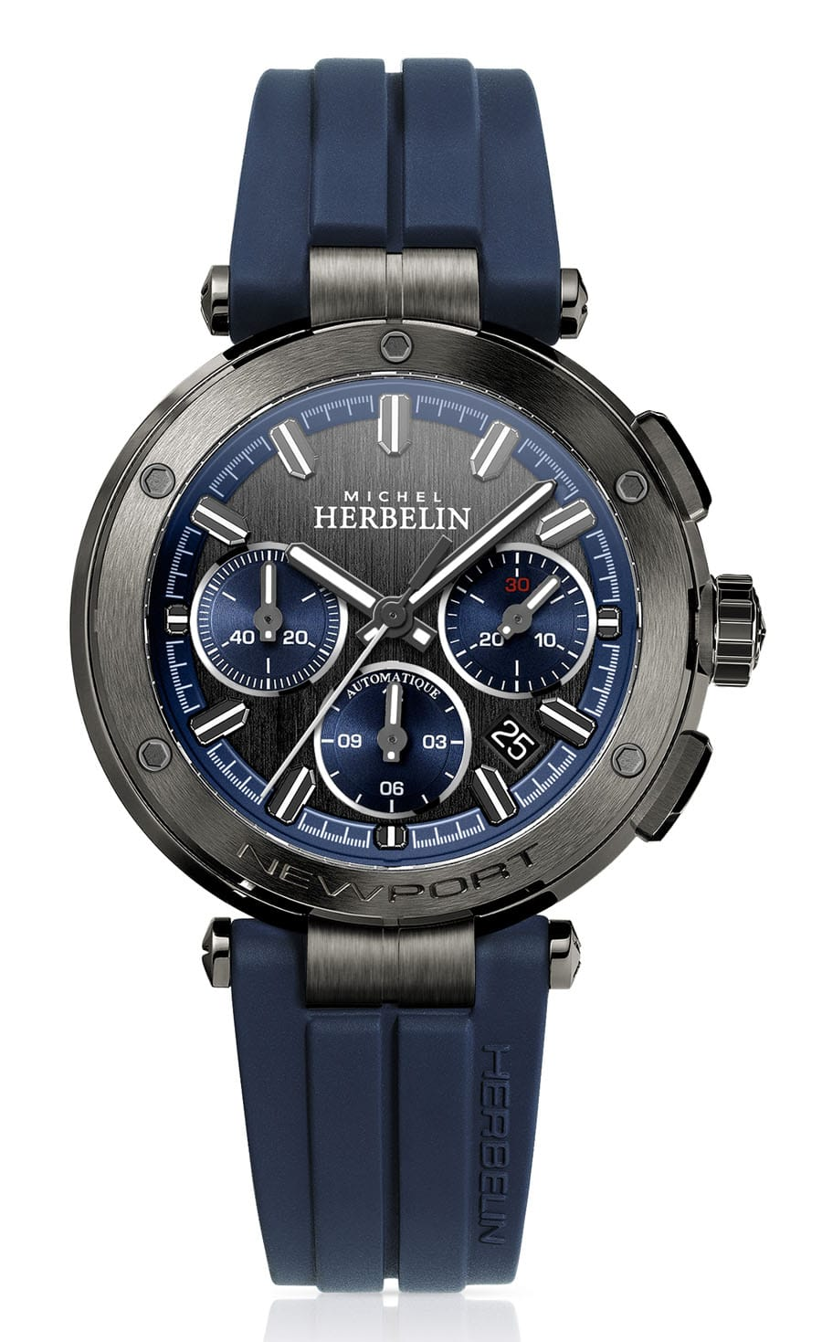 Michel Herbelin: Newport Herrenautomatik Chronograph 268 G65CB