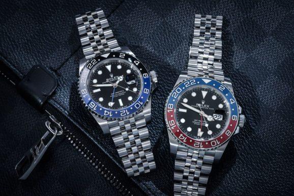 """Begehrt: Rolex GMT-Master II """"Batman"""" und """"Pepsi"""". Foto: Marcus Krüger"""