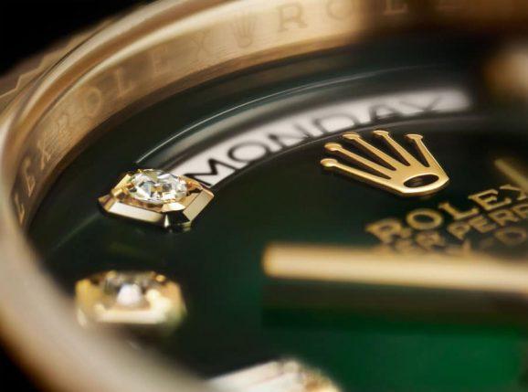Rolex: Oyster Perpetual Day-Date 36 Nahaufnahme Zifferblatt