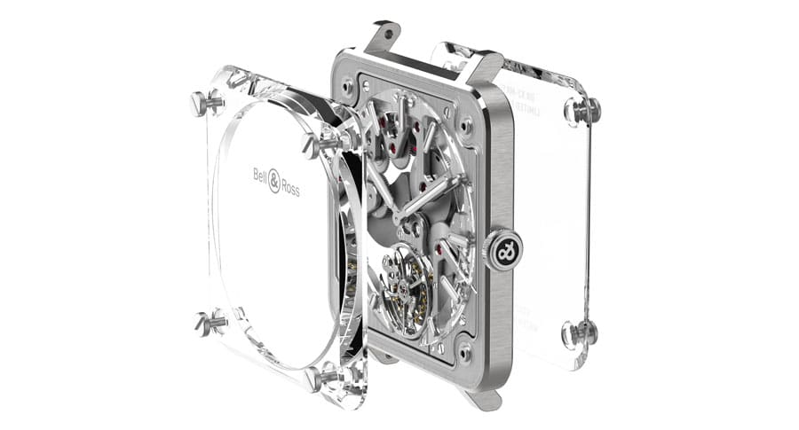 Der Gehäuseaufbau des BR-X2 Skeleton Tourbillon Micro-Rotor