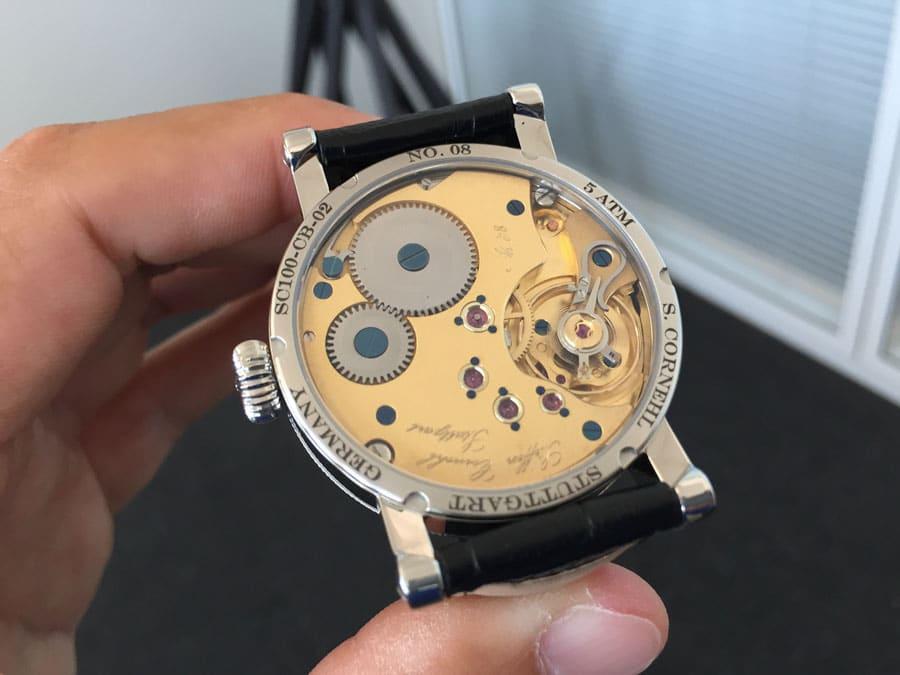 Das Handaufzugskaliber Unitas 6498 in der stark modifizierten Version von Cornehl Uhren