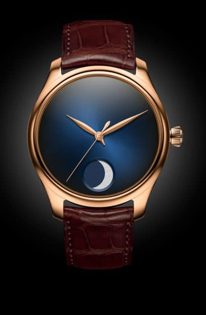 H. Moser & Cie.: Endeavour Perpetual Moon Concept in Rotgold mit blauem Fumé-Zifferblatt