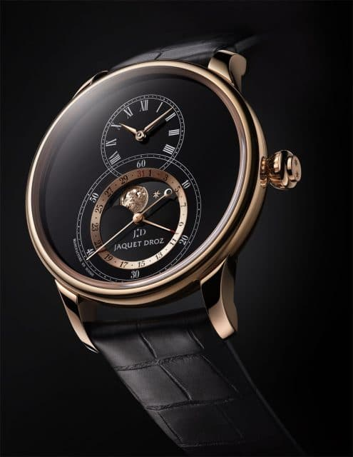 Jaquet Droz: Grande Seconde Moon Black Enamel