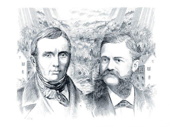 Die Longines Gründer Auguste Agassiz und Ernest Francillon