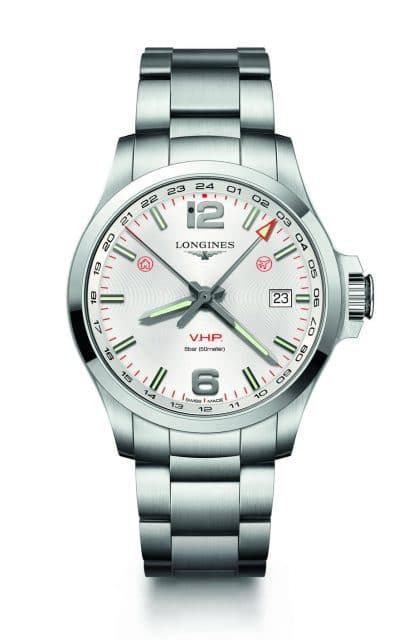 Longines: Conquest V.H.P. GMT Flash Setting, 43 Millimeter, Edelstahl (1.190 Euro)