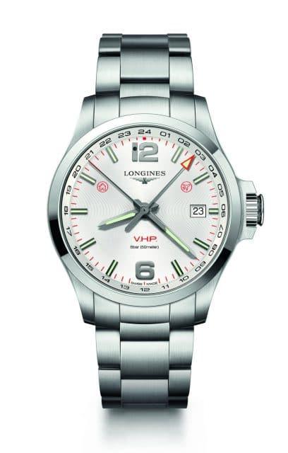 Longines: Conquest V.H.P. GMT Flash Setting, 43 Millimeter, Edelstahl (1.190 Euro)