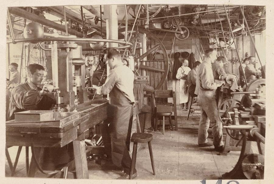 Historisch: Longines-Werkstatt