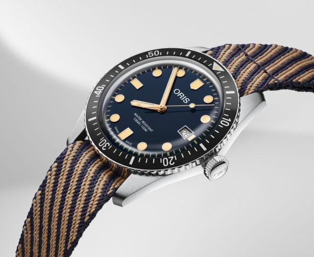 Oris: Divers Sixty-Five mit Armband aus recyceltem Kunststoff