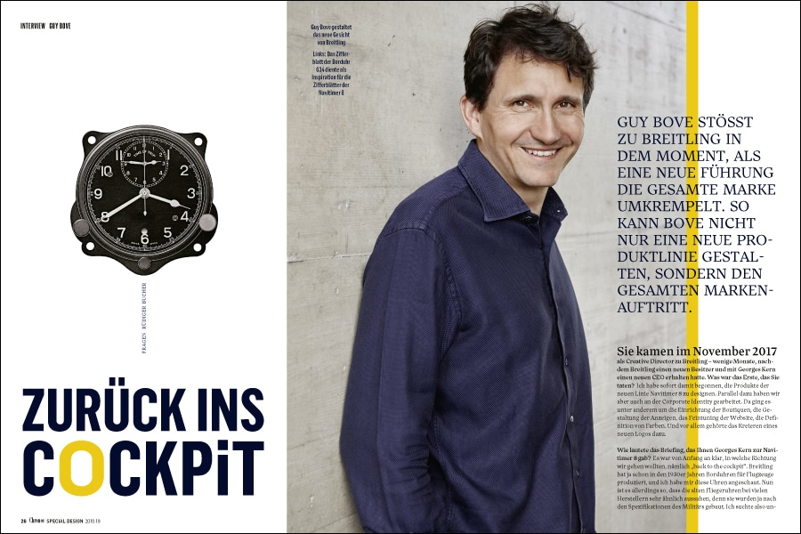 Chronos Special Design: Interview mit Breitling-Designchef Guy Bove