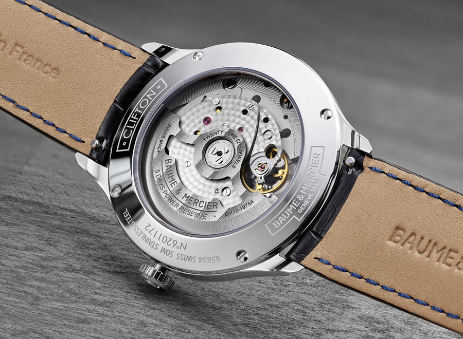 Baume & Mercier: Das innovative Uhrwerk BM12-1975A der Clifton-Baumatic