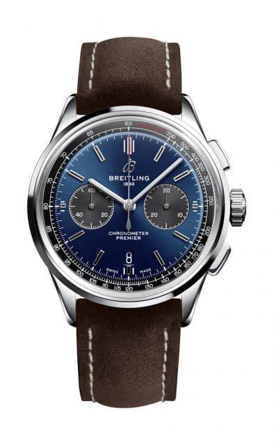Breitling: Premier B01 Chronograph 42 mit blauem Zifferblatt