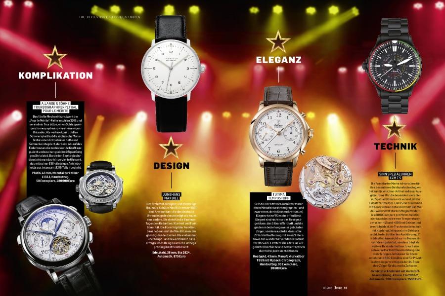Die besten Uhren Deutschlands in zehn Kategorien