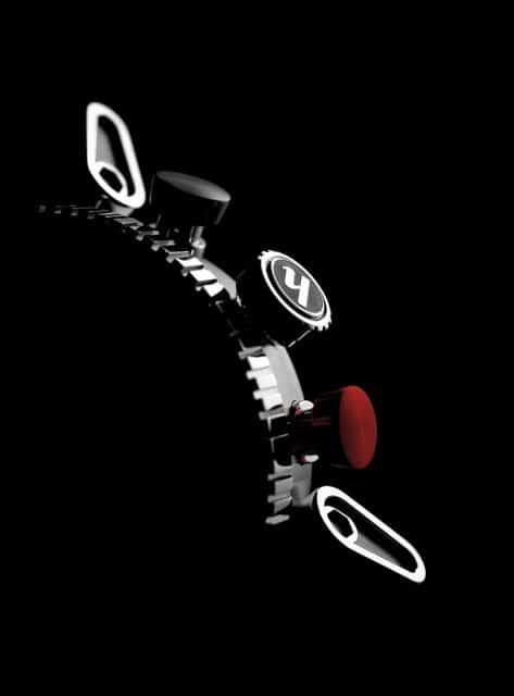 Hanhart: Black Falcon Primus Race Winner Red Button