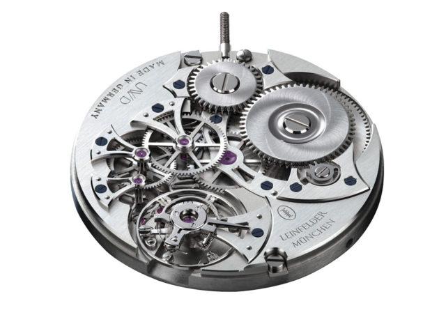 Leinfelder Uhren München: Werk L-H01 aus Neusilber