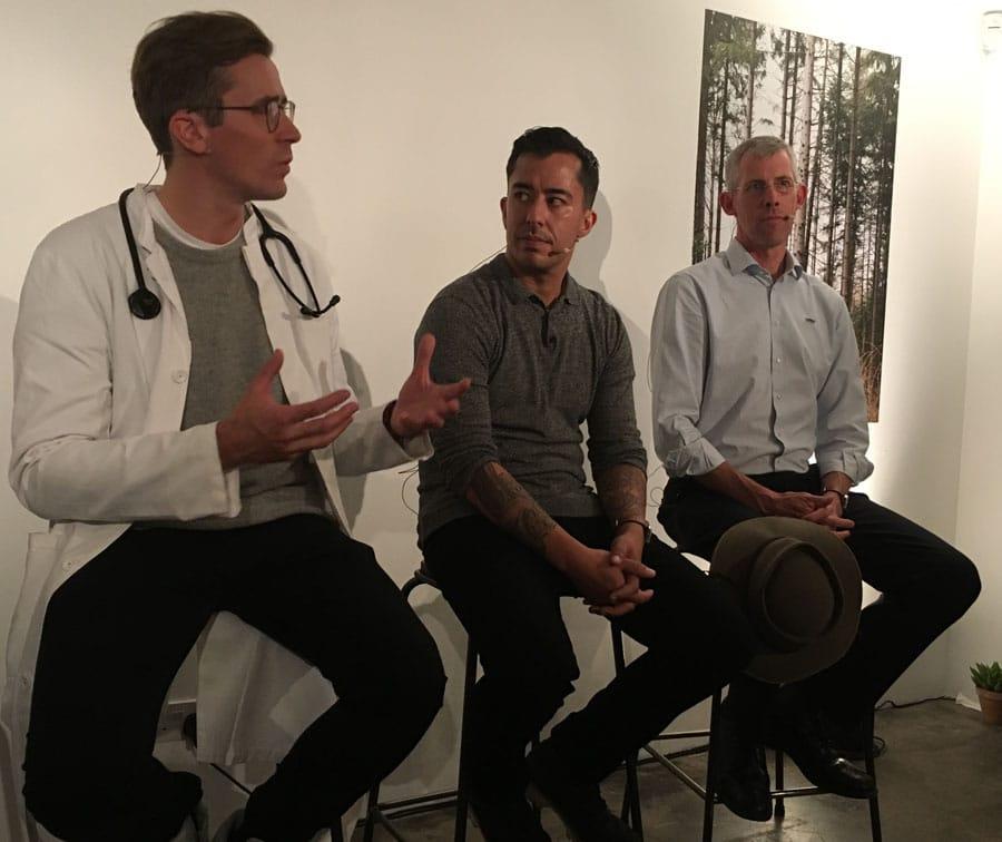 Oris Movember Crew mit Dr. Johannes Wimmer, Miguel Gutierrez und Scott Poynton