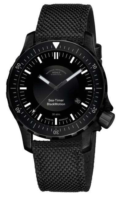 Mühle Glashütte: Sea-Timer BlackMotion