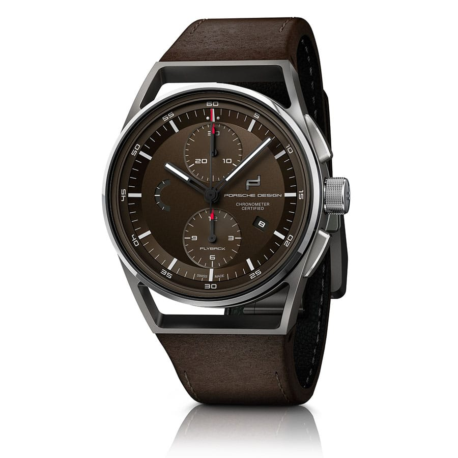 Porsche Design 1919 Chronotimer Flyback Brown and Leather