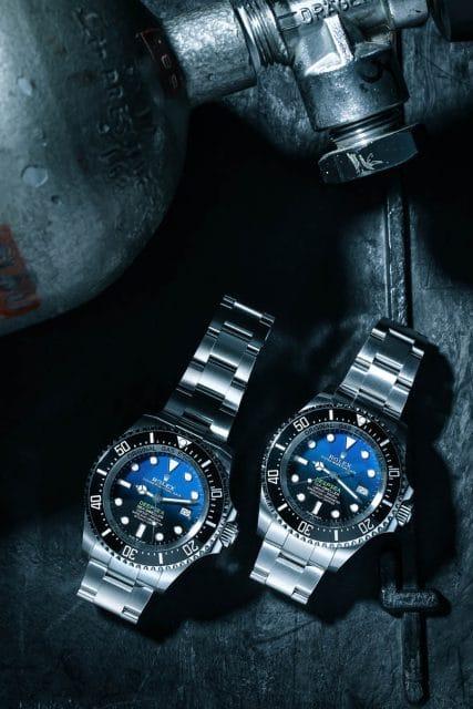 Ist die neue Rolex Deepsea D-blue (links) besser als die alte (rechts)? Foto: Marcus Krüger