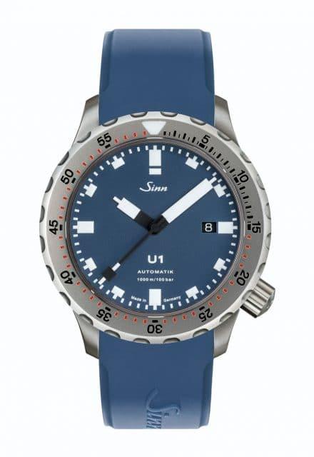 Sinn: Spezialuhren U1 B Soldat mit blauem Silikonband