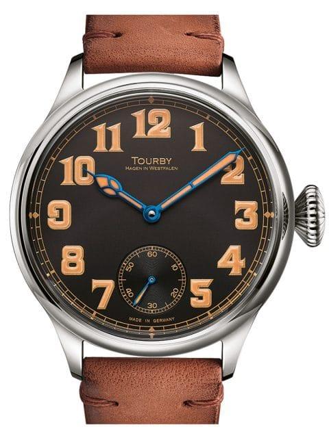 Tourby Watches: Old Military Vintage Black 45 mit modifiziertem Unitas-Taschenuhrenkaliber