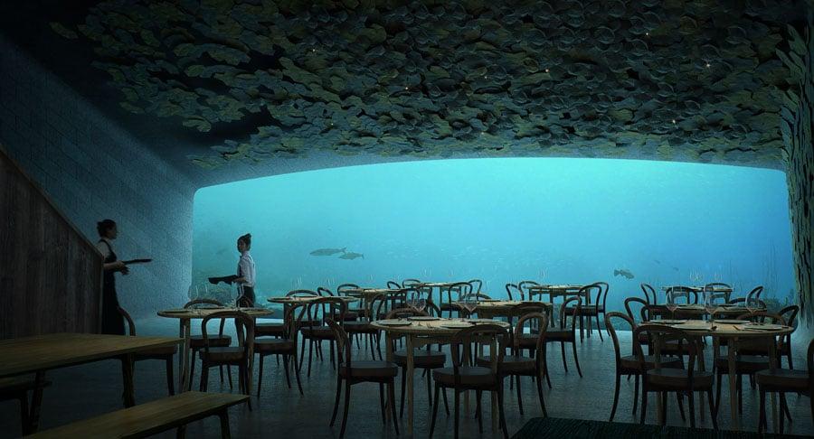 Unterwasser-Restaurant des norwegischen Architekturbüros Snöhetta