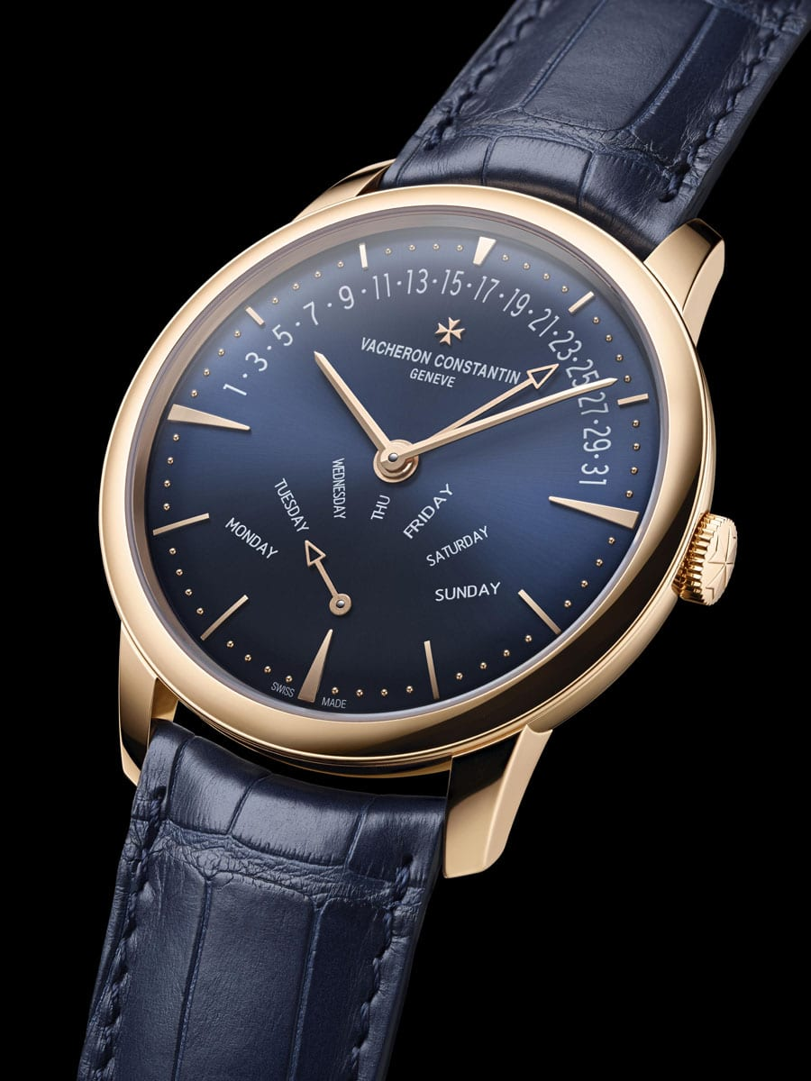 Vacheron Constantin: Patrimony Retrograde Day-Date mit Zifferblatt in Majestic Blue