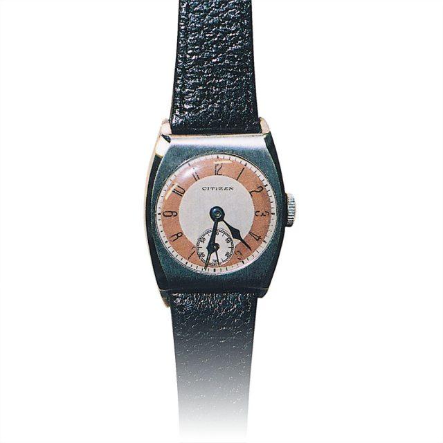 Frühe Armbanduhr: Dieses Modell im tonneauförmigen Gehäuse stammt von 1931