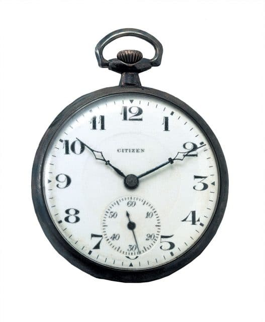 Das erste Produkt: Taschenuhr Kaliber 16 von 1924