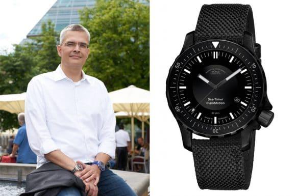 6 robuste Sportuhren: Rüdiger Bucher, Chefredakteur Chronos empfiehlt die Mühle-Glashütte Sea-Timer BlackMotion