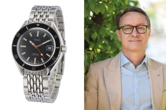 """Holger Christmann, Chefredakteur UHREN-MAGAZIN, wählt die Doxa Sub 200 """"130th Anniversary Celebration"""""""