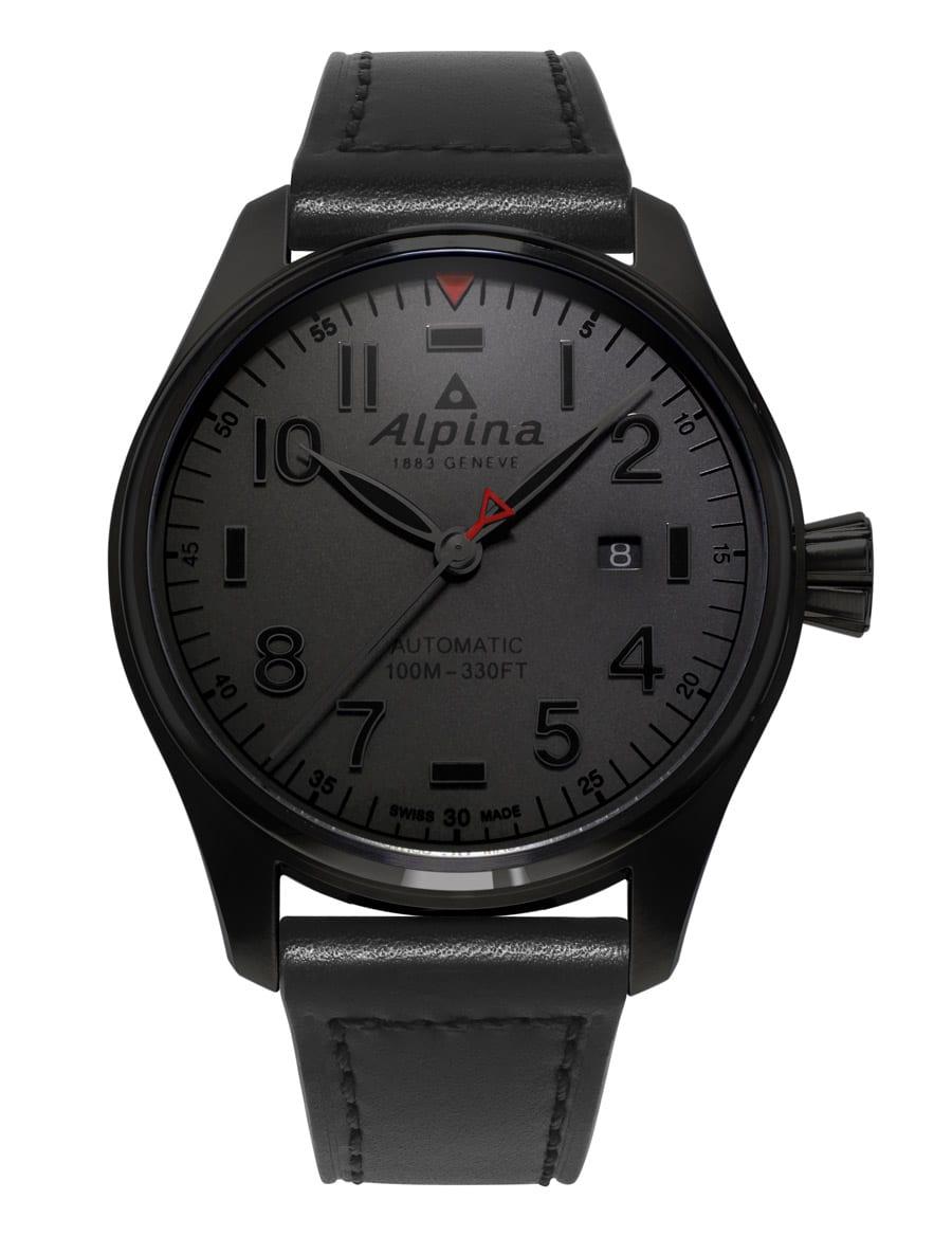 Alpina Startimer Pilot Automatic Shadow Line mit dunkelgrauem Zifferblatt