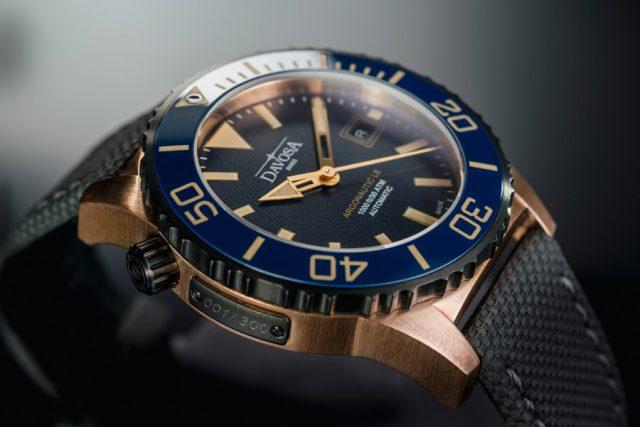Davosa: Argonautic Bronze Limited Edition mit blauem Zifferblatt und blauer Keramiklünette