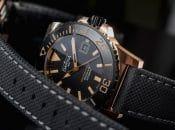 Davosa: Argonautic Bronze Limited Edition mit schwarzem Zifferblatt und schwarzer Keramiklünette