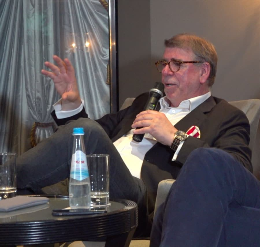 Uhrenjournalist Gisbert Brunner bei der Podiumsdiskussion auf der Munichtime 2018