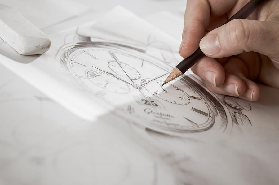 Glashütte Original ganz original: Designzeichnung