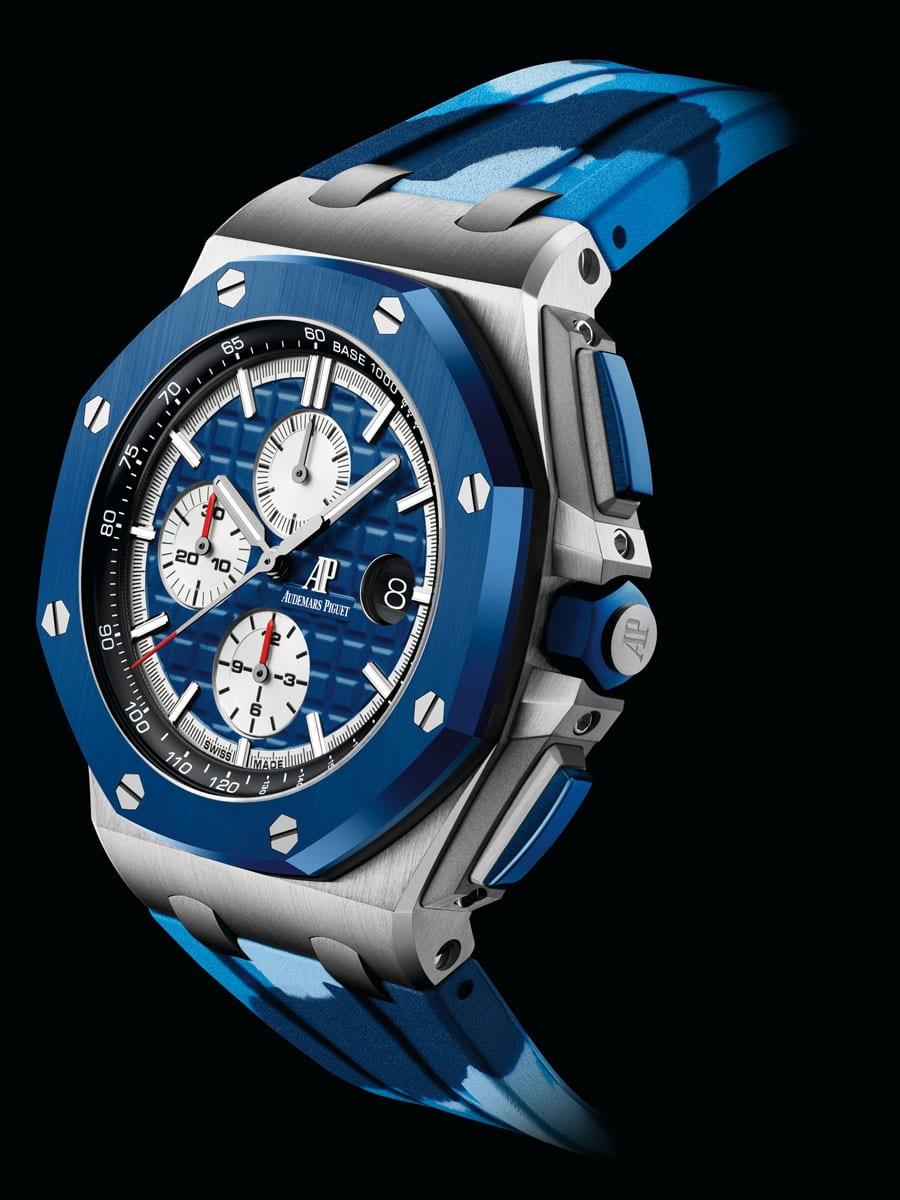 Der neue Royal Oak Offshore Chronograph Automatik in Blau