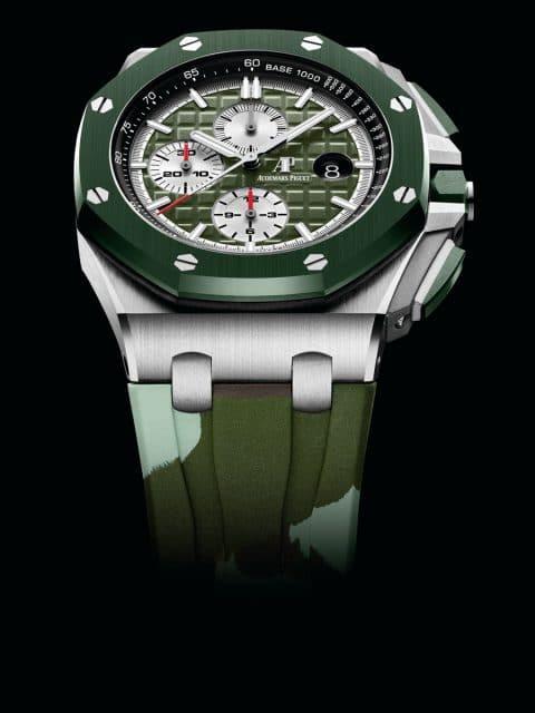 Die neue Camouflage-Uhr in Grün
