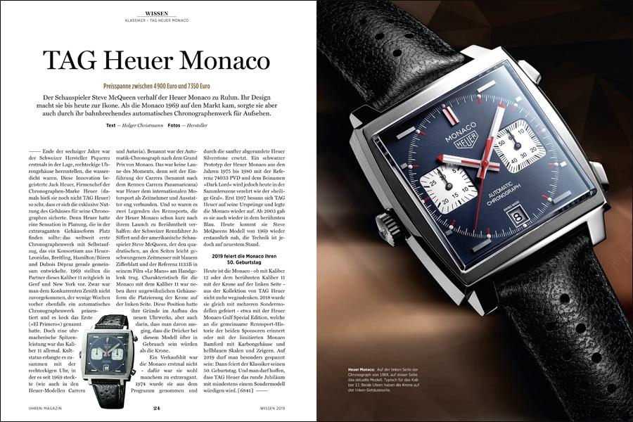 Doppelseite: Heuer Monaco